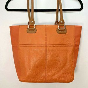 TIGNANELLO Perfect Pockets Medium Tote Orange